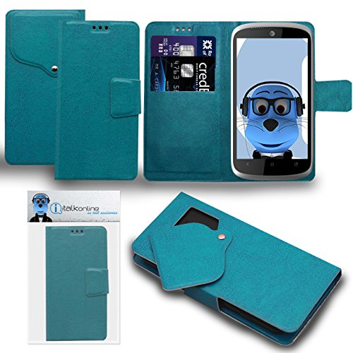 Click to buy iTALKonline HTC One VX Sky Blue Super Slim PU Leather Executive Multi-Function Wallet Case Cover Organiser Flip with Credit / Business Card Holder - Suction Pad Design - From only $28.99