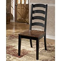 Hot Sale Dining Room Side Chair in Black Brown - Signature Design by Ashley Furniture (Set of 2)