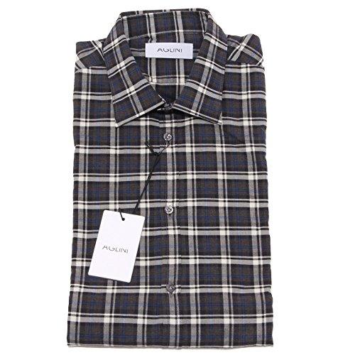 8170P camicia quadretti manica lunga AGLINI camicie uomo shirt men [42]