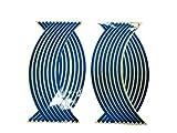 リムステッカー 反射 カラフル 17 18 インチ 4車輪分 (青( blue))