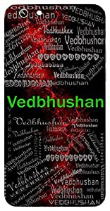 Vedbhushan (One Adorned With Knowledge Of The Vedas) Name & Sign Printed All over customize & Personalized!! Protective back cover for your Smart Phone : Moto E-2 ( 2nd Gen )