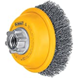 DEWALT DW4920 3-Inch by 5/8-Inch-11 Crimped Cup Brush/Carbon Steel .014-Inch