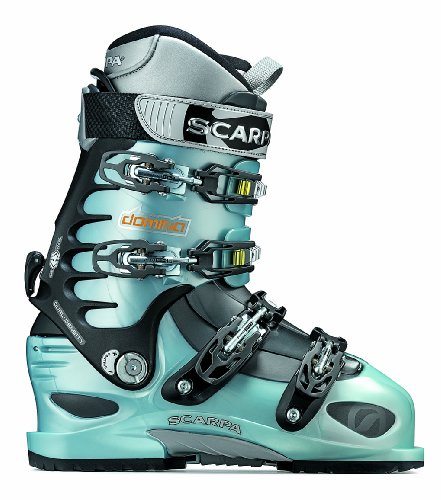 SCARPA Women's Domina Free Ride Boot,Ice Blue/Anthracite,25 M Mondo / 6 M UK / 8 M US Women Picture