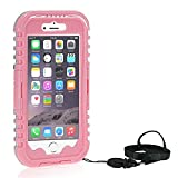 Queens® Waterproof Case Cover for Apple Iphone 6 Plus 5.5 Inch, Dustproof Snowproof Shockproof Premium Slim Hard Armor Protective Advanced Shock Absorbing Fit Cover Case with Screen Protect for Apple Iphone 6 Plus (5.5 Inch ) (4-Pink)