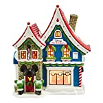 Department 56 North Pole Series Village Mickeys Pin Traders with Pin Light House, 8.18