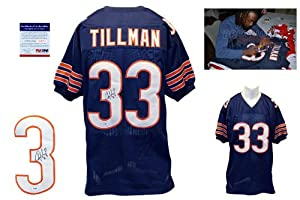 Charles Tillman Signed Navy Jersey - PSA DNA - Chicago Bears Autograph
