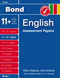 Cover of Bond English Assessment papers by J M Bond Sarah Lindsay 0748784837