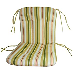 wrought iron chair cushion alex stripe gold patio furniture cushions