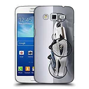 Snoogg Vintage White Car Designer Protective Back Case Cover For Samsung Galaxy Grand 2