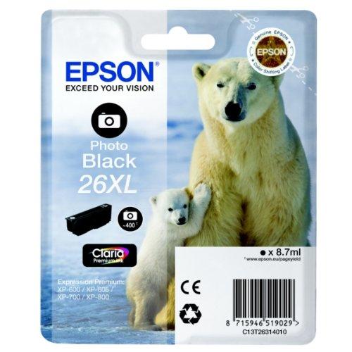 Epson C13T26314010 Cartouche d'encre noir lumière pour Expression Premium XP-600/XP-605/XP-700/XP-800
