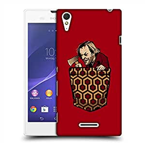 Snoogg Red Axe Man Designer Protective Back Case Cover For SONY XPERIA T3