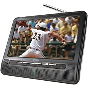 Coby TFTV791 7-Inch Portable Widescreen LCD TV with ATSC/NTSC Tuner and Integrated Telescopic Antenna (Black)