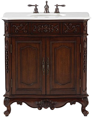 "Winslow 33"" Single Vanity, 37""Hx33""Wx20.5""D, ANTIQUE CHERRY"