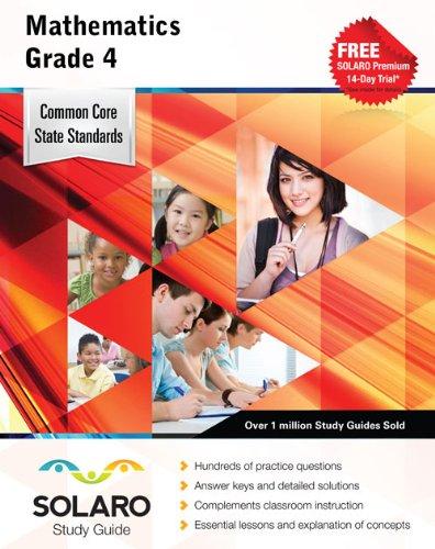 Common Core Mathematics Grade 4: SOLARO Study Guide (Common Core Study Guides)