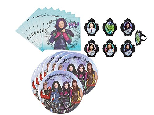 Best Price The Descendants Deluxe Cupcake Ring Decorations and Party Supply Pack for 16 Guests