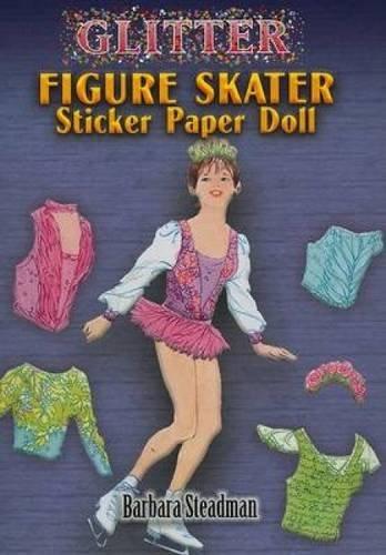 Glitter Figure Skater Sticker Paper Doll