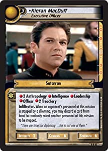 Star Trek Ccg 2e Tbg To Boldly Go Kieran Macduff Executive Officer 8r83