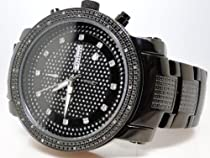 New Mens Jojo/Jojino/Joe Rodeo Silver Metal Genuine Real Diamond Watch MJ-1102A
