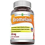 Amazing Nutrition Bromelain, 500 Mg, 120 Capsules - Helps Relieve Physical Stress - Natural Enzyme From Pineapple