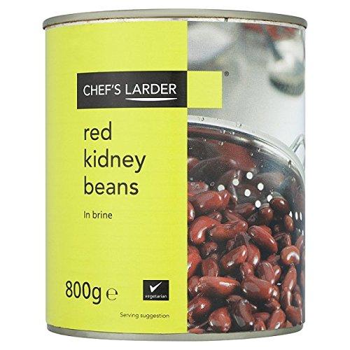 Larder rouges des haricots du chef en saumure 800 g (poids égoutté 480g)
