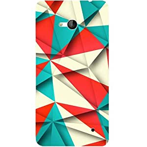 Casotec Red Blue White Pattern Design 3D Hard Back Case Cover for Microsoft Lumia 640