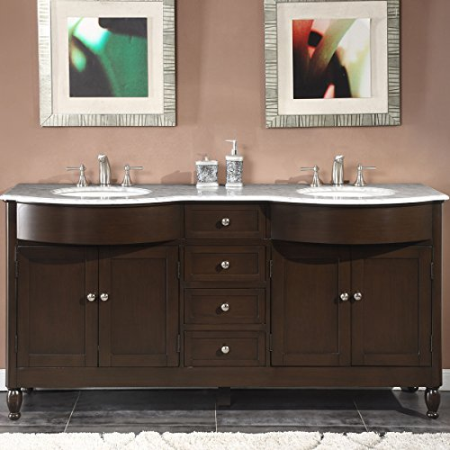 Silkroad-Exclusive-Marble-Top-Double-Sink-Bathroom-Vanity-with-Dark-Walnut-Finish-Cabinet-72-Inch