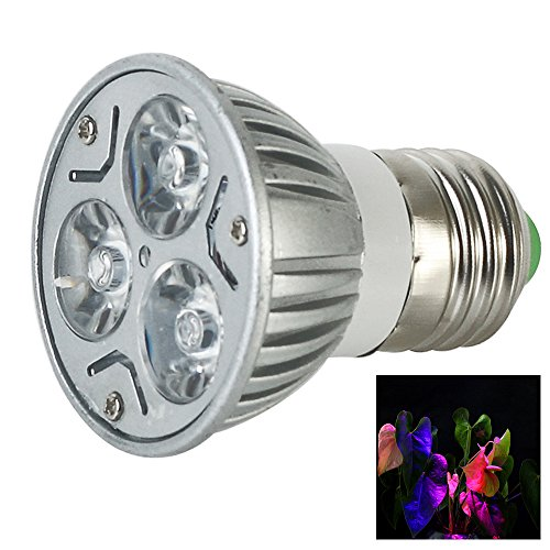 Lvjing® New Designed 8Pcs 6W E27 Led Plant Grow Light 2 Red + 1 Blue Lamps For Growing Indoor Plants Flowers Vegetables