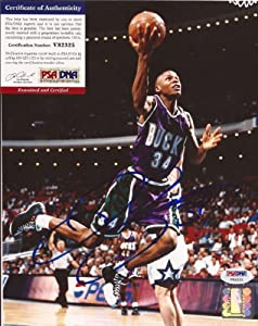 Ray Allen Milwaukee Bucks Signed 8x10 Photo PSA DNA COA #v82325 by Hollywood+Collectibles