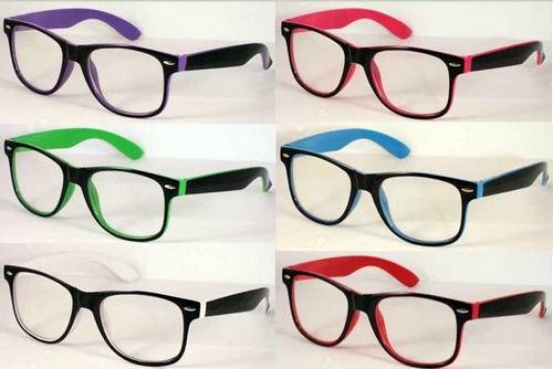 Clear Fashion Glasses By The Dozen Neon Color Clear Lens Fashion