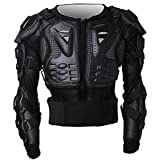 Tera P14 Motorbike Motorcycle Full Body Armour Armor Protector Guard Shirt Jacket with Widen Back Protection from Hard Plastic and Breathable Mesh for Motocross ATV Road Motorcycling etc. Black B-Size