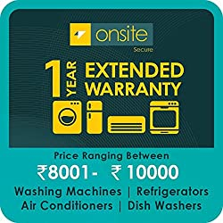 Onsite 1-year extended warranty for Large Appliance (Rs. 8001 to < 10000)