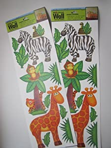 Amazon.com - 2-Pack Main Street Wall Creations Jumbo Stickers - Jungle