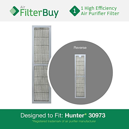 Hunter 30973 Air Purifier Replacement Filter. Designed by FilterBuy to fit Hunter Models 30890 & 30895. (Hunter Filter Replacement 30406 compare prices)