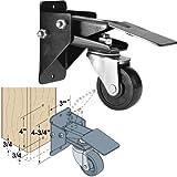 Woodtek 163703, Hardware, Casters And Glides, Furniture & Cabinet, Workbench Stepdown Caster Set, 4 Each