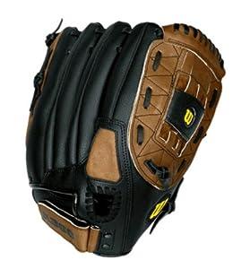 Wilson A360 Soft Pitch Glove, Left Hand Throw, 13-Inch, Black/Brown
