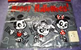 Mickey & Minnie Mouse & Pluto Skeleton Halloween 21 x 15.5 Doormat With Sounds