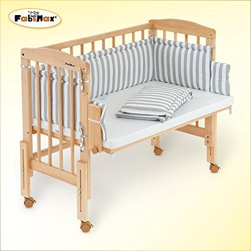 fabimax babybett mit praktischer beistellfunktion. Black Bedroom Furniture Sets. Home Design Ideas