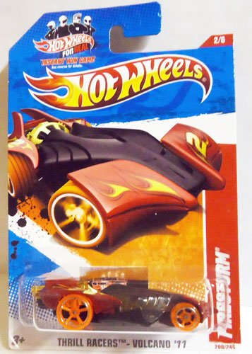 2011 Hot Wheels Black Red FIRESTORM #200/244, Thrill Racers Volcano '11 #2/6 - 1