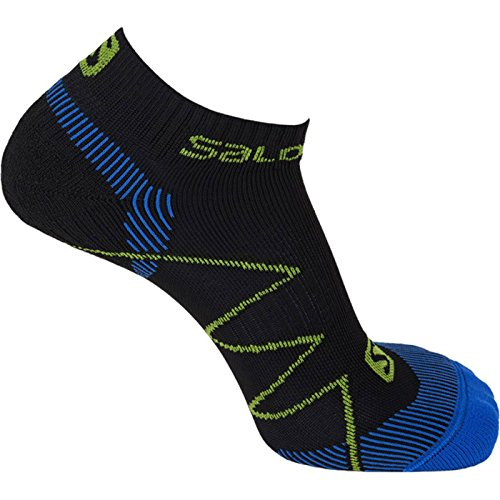 Salomon X Scream, Calzini da corsa unisex, Nero (black/union blue/gecko green), 36-38 / S