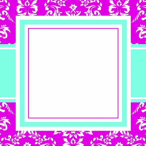 Three Designing Women Designer Self Adhesive Stickers, Pink Toile Collection front-330201