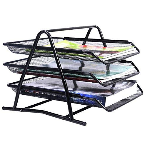 Briefablage-Papierablage-Dokumenten-Schreibtischablage-Briefkorb-Ablagefach