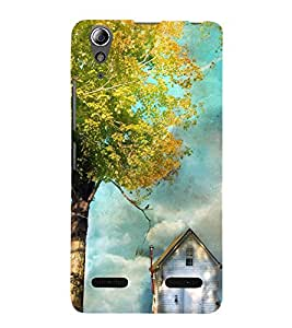 printtech Beautiful House Tree Back Case Cover for Lenovo A6000
