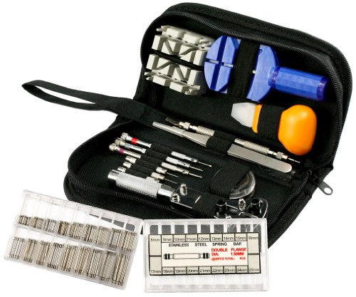 Micro Trader 371Pcs Repair Tool Kit Watch Opener Remover Spring Pin Bar With Case