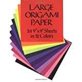 "Large Origami Paper: 24 9"" x 9"" Sheets in 12 Colours (Dover Origami Papercraft)by Dover Publications Inc"