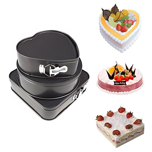 Springform Pan, Yummy Sam Non-Stick Leakproof Cheesecake Pan Cake Molds Springform Cake Pans Square Heart-Shaped Round Cake Pans Bakeware Baking Pans