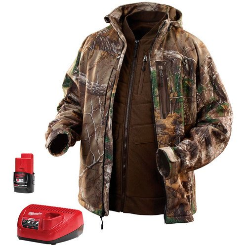 MILWAUKEE ELECTRIC TOOL 2387-M M12 Heated Real tree Xtra 3-In-1 Jacket Kit, Medium (M12 Heated Jacket compare prices)