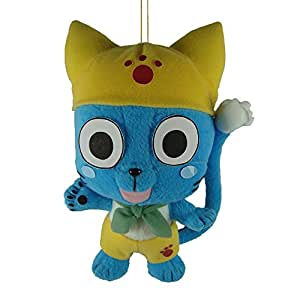 """Great Eastern GE52542 Fairy Tail Anime 9"""" Happy In Yellow Plush Doll"""