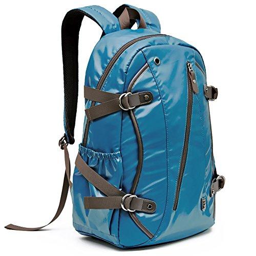 Laptop Zaino, Evecase Idrorepellente PU Pelle Zaino Scuola / Giornaliero per Laptop Chromebook Ultrabook Macbook fino a 15.6 pollici - Blu