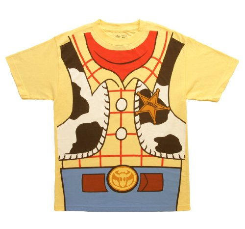 Mighty Fine Toy Story I Am Woody Costume T-Shirt Yellow