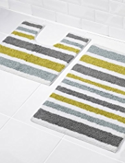 Modern Striped Bath & Pedestal Mats